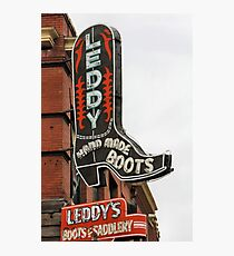 Leddy , Hand Made Boots Photographic Print