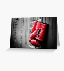 Gloves Off Greeting Card