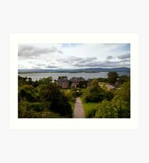 Bantry House and Bay Art Print