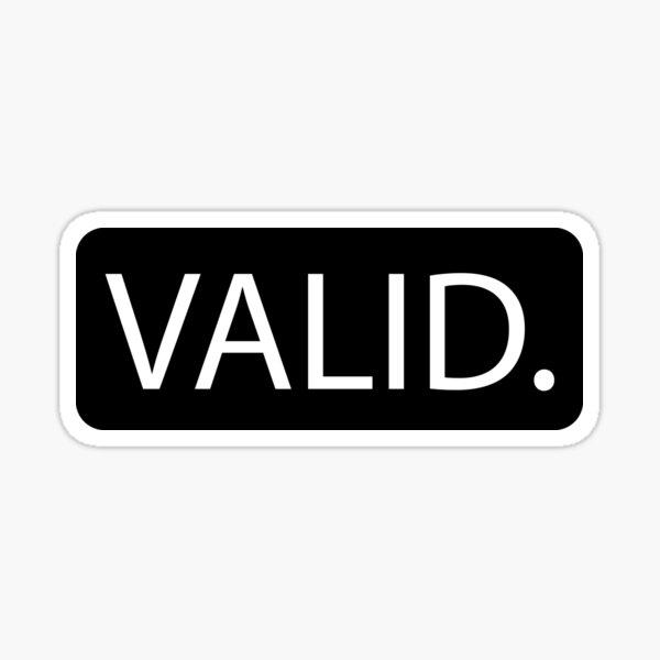 VALID Sticker