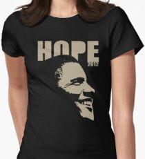 Obama Hope 2012 Women's Shirt Womens Fitted T-Shirt