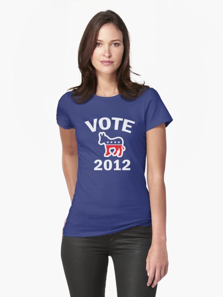 Vote Democrat 2012 T  Women's Shirt by ObamaShirt