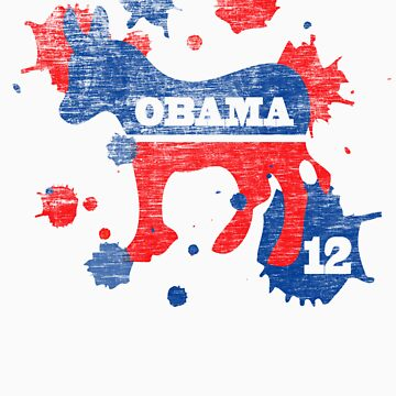Obama 2012 Paint Shirt by ObamaShirt