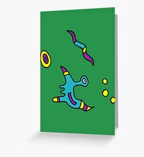 Cosmo-pong Greeting Card