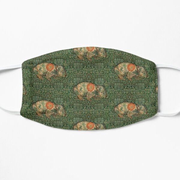 Rossetti's Wombat in Green Flower Garden Mask