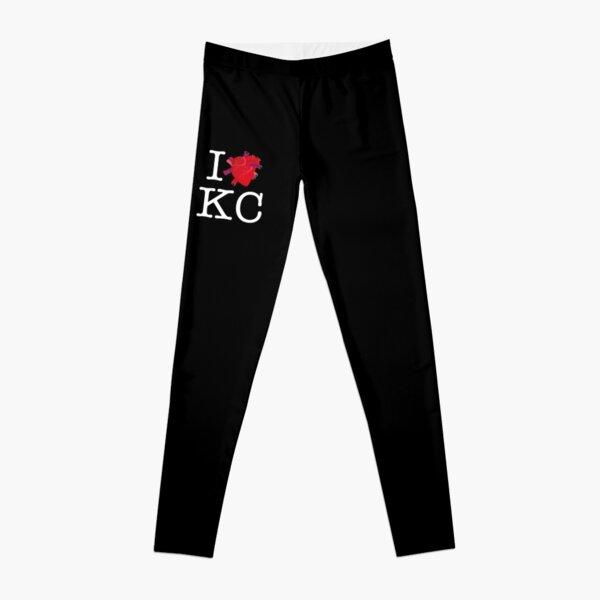 I HUMAN HEART KC (white text) Leggings