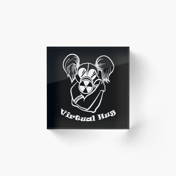 Gas Mask Girl Virtual Hug White Acrylic Block