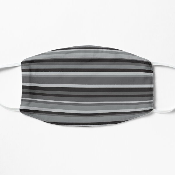 Gray lines design Flat Mask
