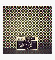 Retro Camera  Photographic Print