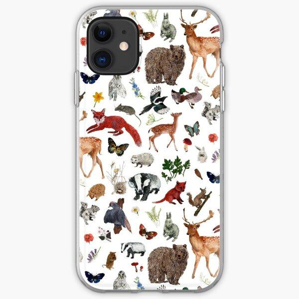Wild Woodland Animals iPhone Soft Case
