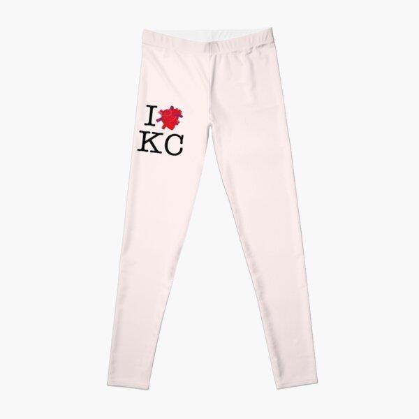I HUMAN HEART KC (BLACK text) Leggings
