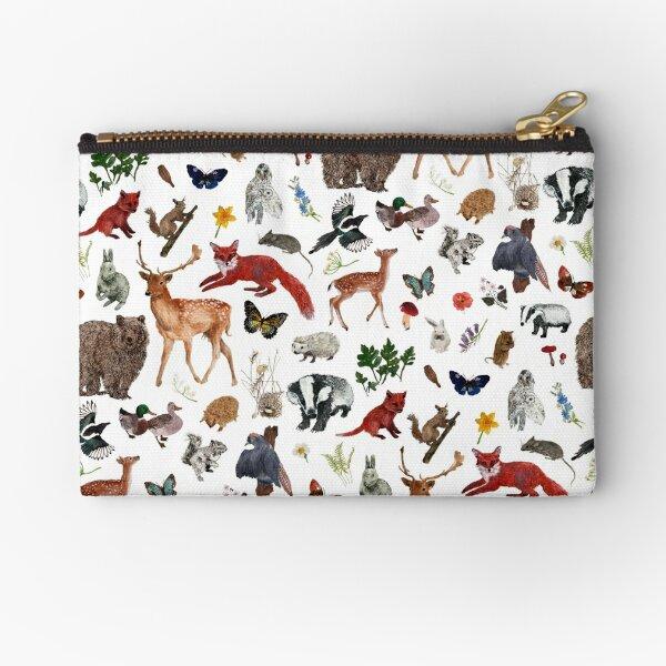 Wild Woodland Animals Zipper Pouch