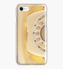 Retro Yellow Telephone  iPhone Case/Skin