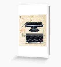 Retro Typewriter Greeting Card