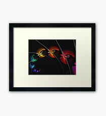 Into the Blackhole With You Framed Print