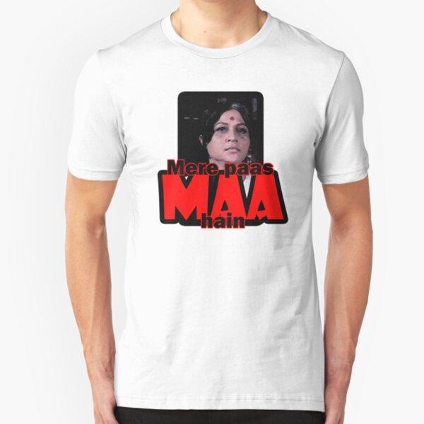 Mere paas maa hain (I have mum) Slim Fit T-Shirt