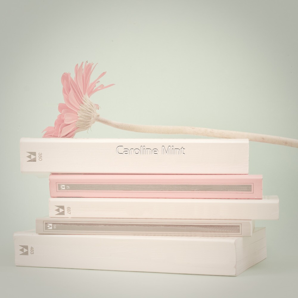 Nostalgic Books and Flower  by Caroline Mint