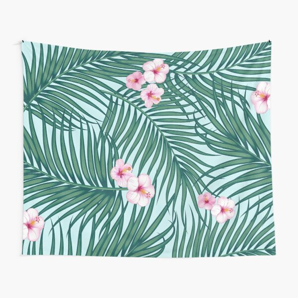 Palm leaves and flowers Tapestry