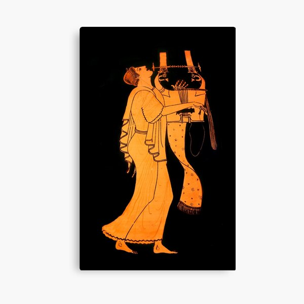 Attic Greek Lyre player by the Berlin Painter Canvas Print
