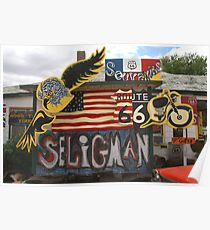 Seligman Sign Route 66 Poster