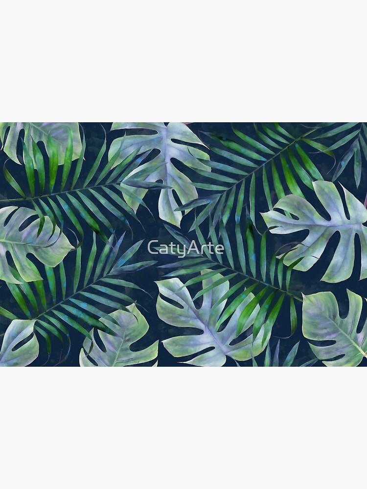 Night tropical leaves by CatyArte