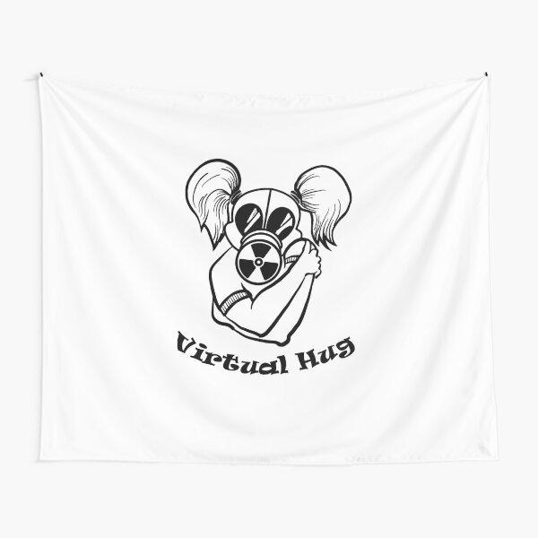 Gas Mask Girl Virtual Hug Tapestry