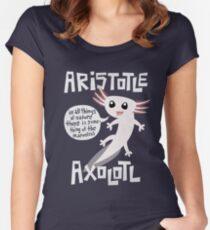 Aristotle Axolotl Women's Fitted Scoop T-Shirt