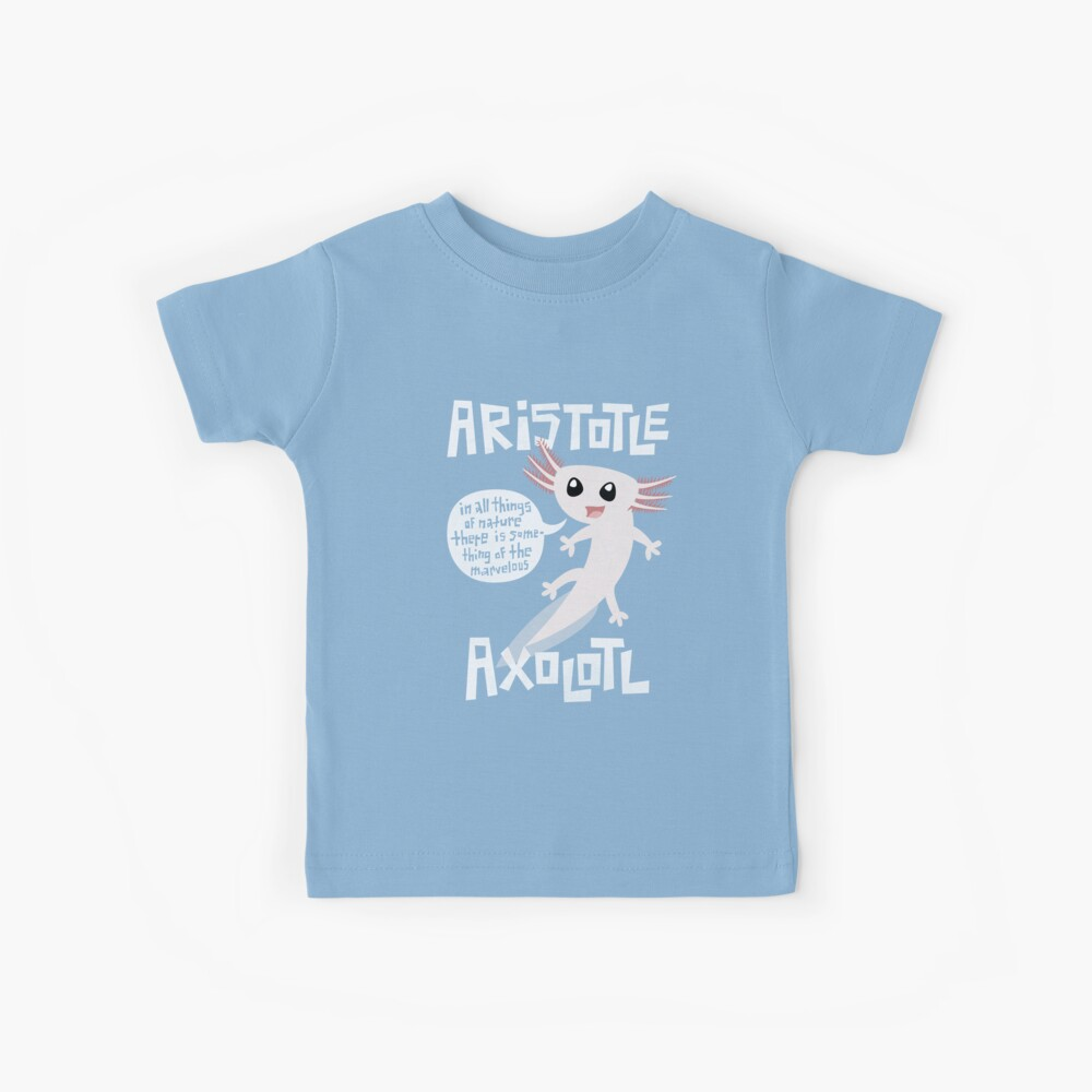 Aristotle Axolotl Kids T-Shirt