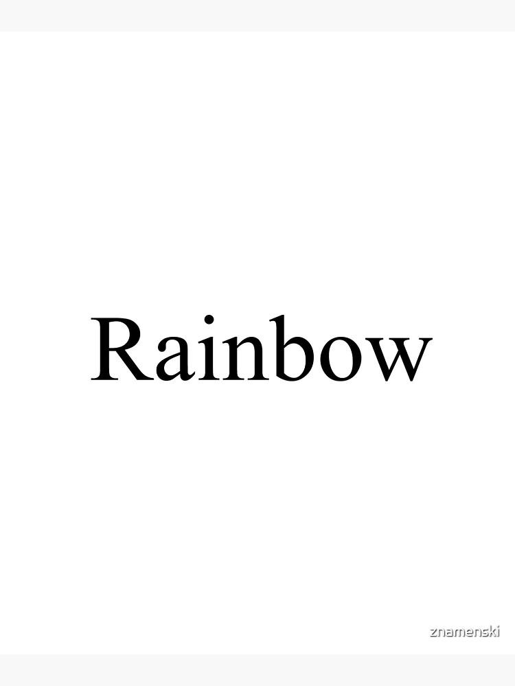Rainbow by znamenski
