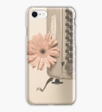 Soft Typewriter and Pink Flower  iPhone Case/Skin