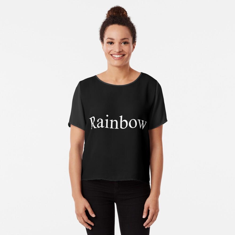 Rainbow Chiffon Top