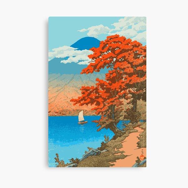 Lake Chûzenji at Nikkô - Kawase Hasui - Japanese Art Canvas Print