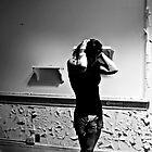 Thinking... Think.....Self Portrait- Abandoned Asylum, NY by kailani carlson
