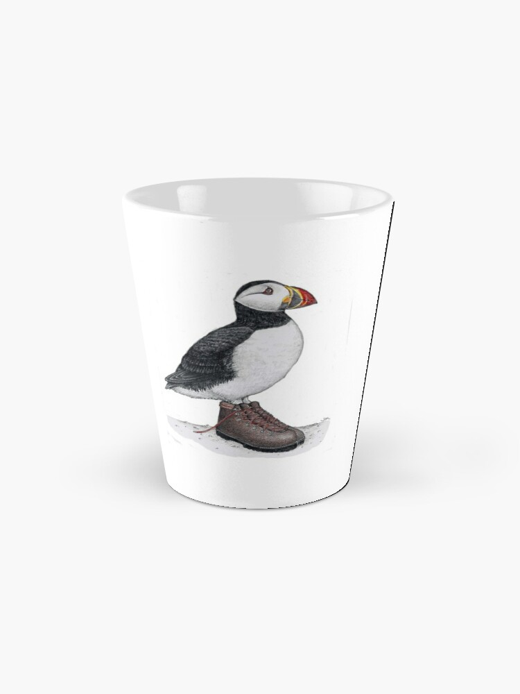 Alternate view of Puffin in hiking boots Mug