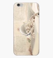 Vintage Still Life with Pearls and Book  iPhone Case