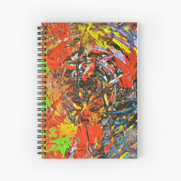 Detail of Crouched and Burning Spiral Notebook