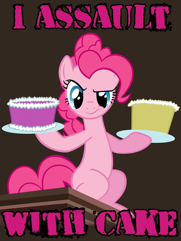 Pinkie Pie assaults with cake (My Little Pony: Friendship is Magic) | Unisex T-Shirt
