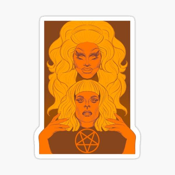 Trixie and Katya Orange Sticker