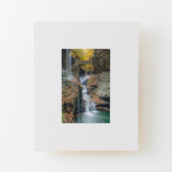 Rainbow Falls Wood Mounted Print