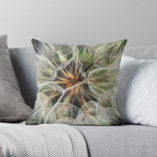 Dandelion Explosion Throw Pillow