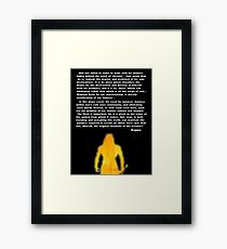 Inbetween- The Human Condition Framed Print