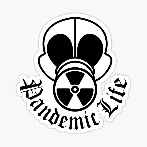 Gas Mask Pandemic Life Sticker
