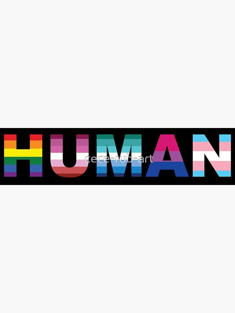 Human Logo LGBT by cece-rub-art