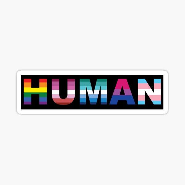 Human Logo LGBT Sticker