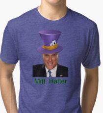 Mitt Romney 2012 mad Hatter Tri-blend T-Shirt