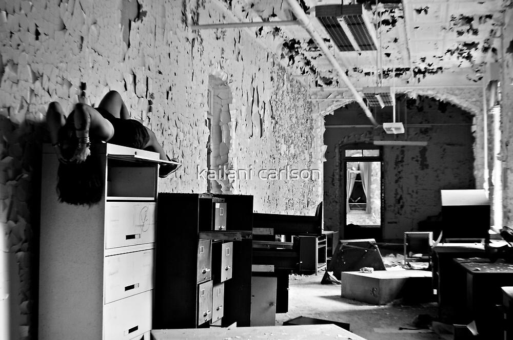 Bitter Wept Tears- Selft Portrait- Abandoned Asylum, NY by kailani carlson