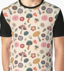 Woodland Floral Seamless Pattern Graphic T-Shirt