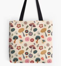 Woodland Floral Seamless Pattern Tote Bag