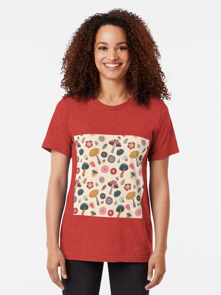 Alternative Ansicht von Woodland-nahtloses mit Blumenmuster Vintage T-Shirt