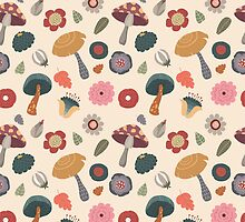 Woodland Floral Seamless Pattern by kennasato